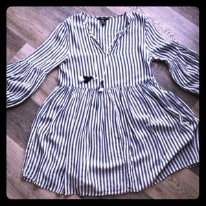 Bohemian style mini long sleeve dress